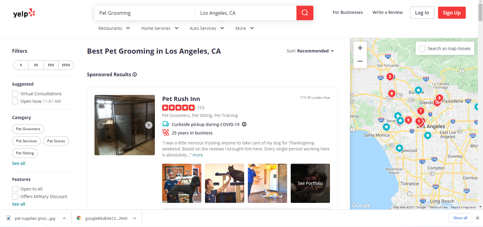 yelp-search-for-grooming-pet-store-near-me